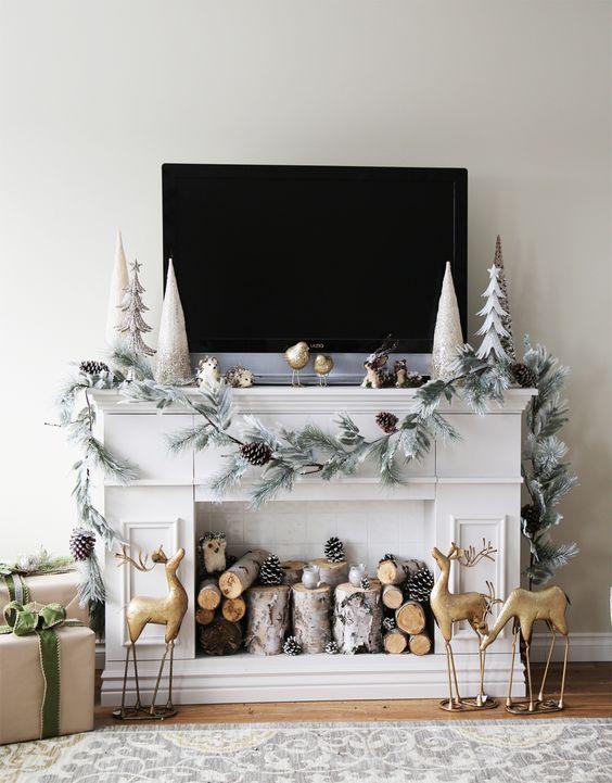 Decora la chimenea de tu hogar con toques navide os - Home disena y decora tu hogar ...