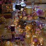 decoracion de navidad color morado Corona Navideña