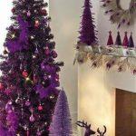 Decoracion de Navidad con Color Morado arbol o pino