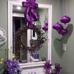 Decoracion de Navidad con Color Morado recibidor