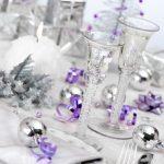 Decoracion de Navidad con Color Morado centros de mesa