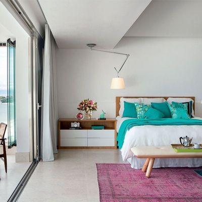 Dormitorios en color turquesa curso de decoracion de - Decoracion de interiores en color azul turquesa ...