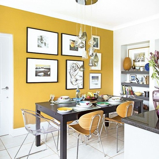 Ideas para decorar el comedor color mostaza