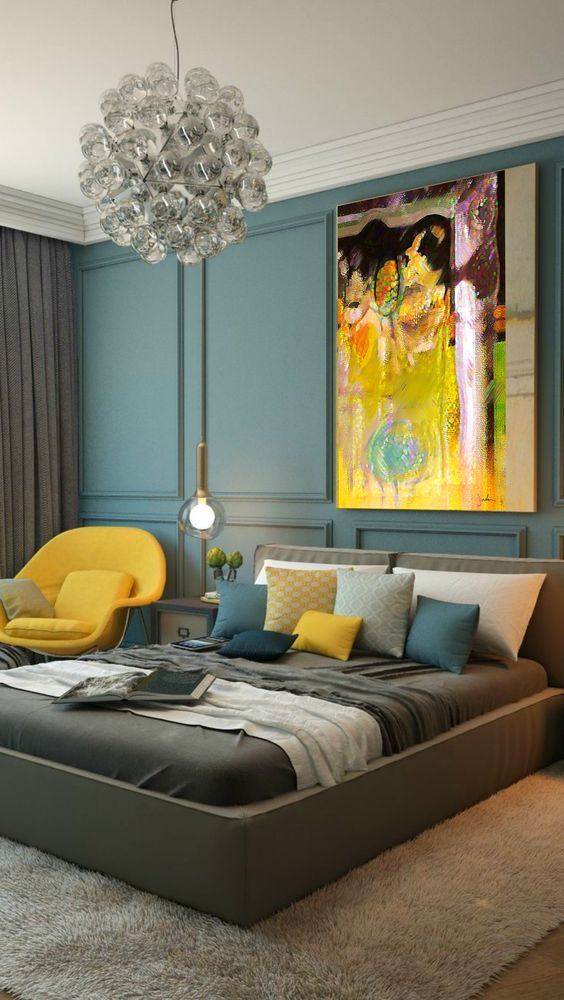 Ideas para decorar habitaciones color mostaza