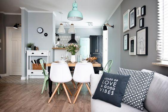 Decoración de interiores sala - cocina y comedor