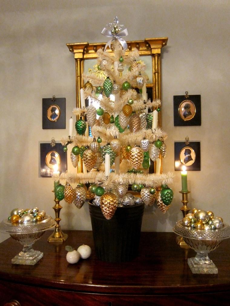 Arboles De Navidad Blanco Con Dorado Arboles De Navidad Blanco Con - Arboles-de-navidad-dorados