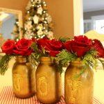 Decoración navideña 2017 rojo con dorado