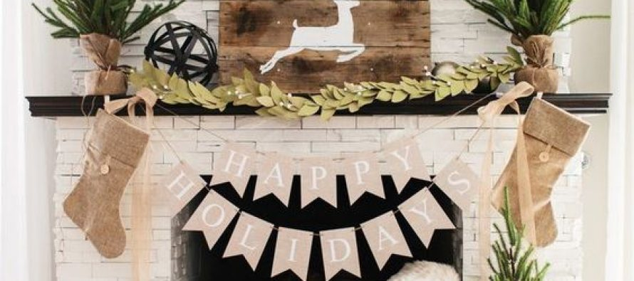 Ideas para decorar chimeneas esta navidad 2017