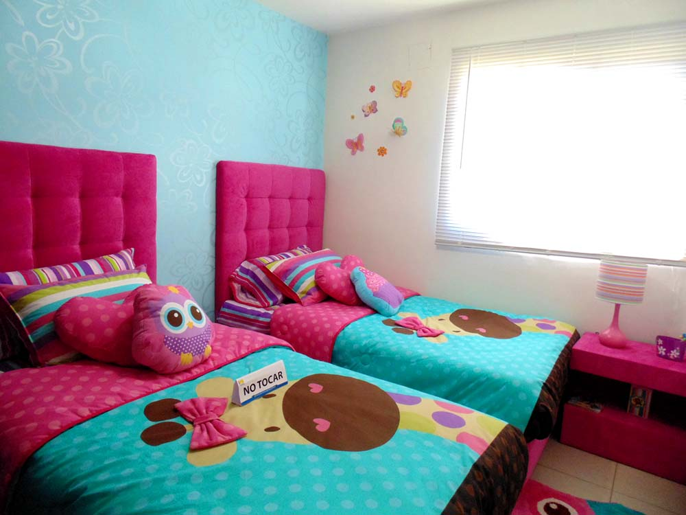 recamara para niños de casa de 52 metros cuadrados