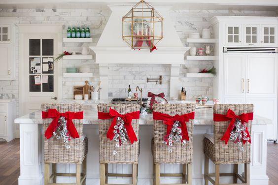 Como decorar sillas para navidad | Elegantes, con fieltro y moños