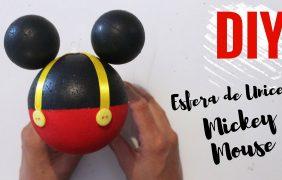 Como hacer esfera de Mickey Mouse DIY – paso a paso