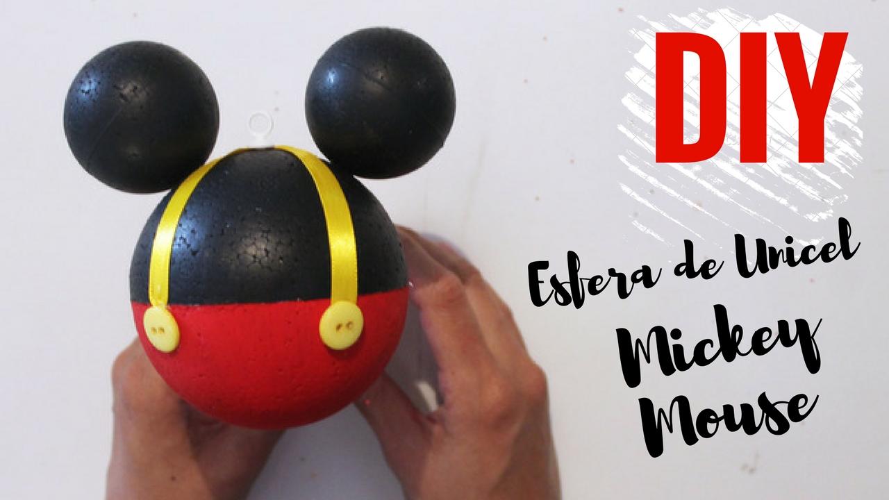 Como hacer esfera de Mickey Mouse DIY - paso a paso