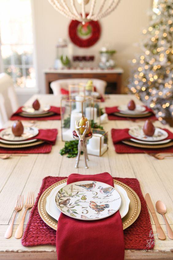 preparar la mesa para fiestas navideñas