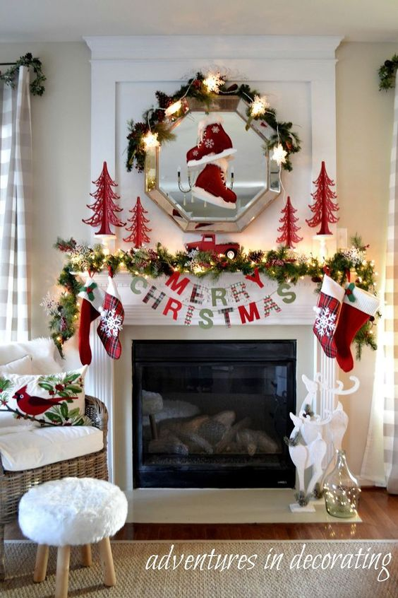 Ideas para decorar chimeneas esta navidad 2017 2018 - Chimeneas para decorar ...