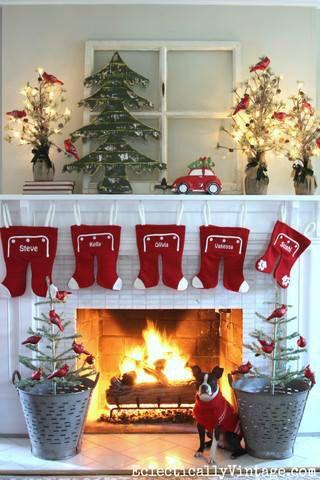 Ideas para decorar chimeneas esta navidad 2017 - 2018 (11)