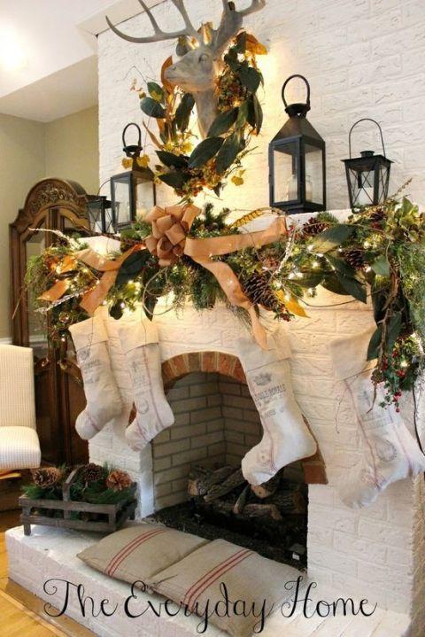 Ideas para decorar chimeneas esta navidad 2017 - 2018 (12)