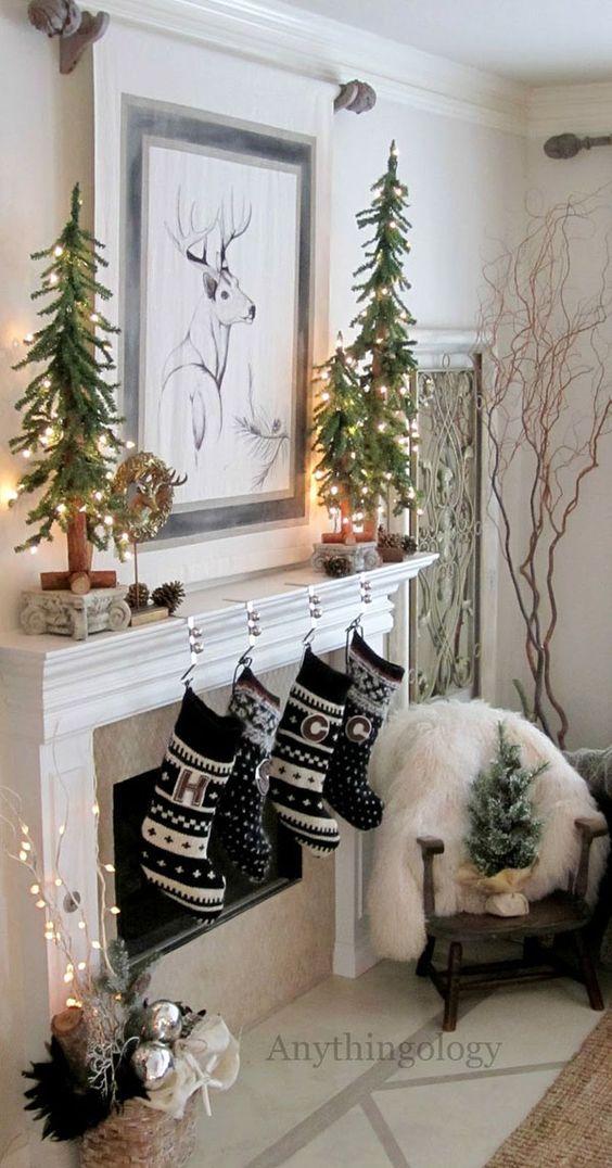 Ideas para decorar chimeneas esta navidad 2017 - 2018 (14)