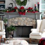 Ideas para decorar chimeneas esta navidad 2017 - 2018 (16)
