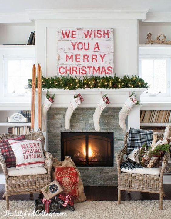 Ideas para decorar chimeneas esta navidad 2017 - 2018 (17)