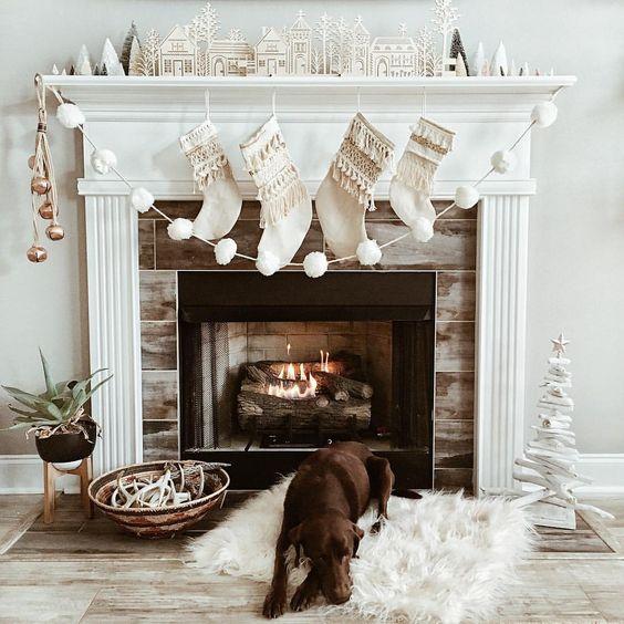 Ideas para decorar chimeneas esta navidad 2017 - 2018 (18)