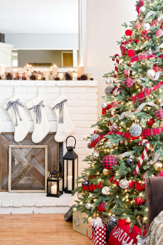 Ideas para decorar chimeneas esta navidad 2017 - 2018 (19)