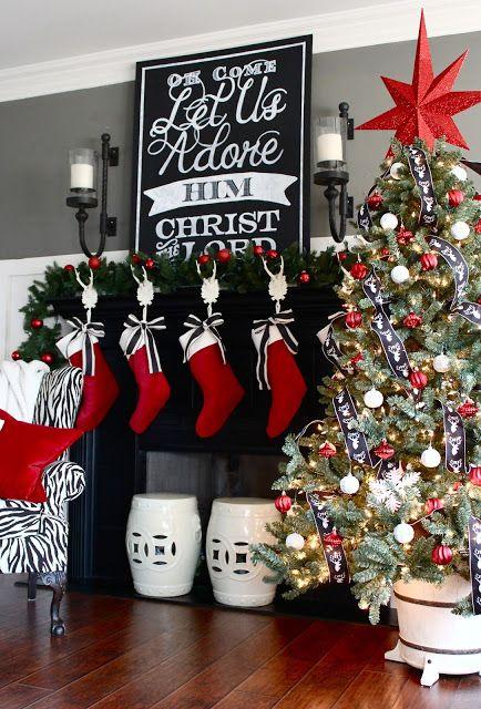Ideas para decorar chimeneas esta navidad 2017 - 2018 (22)