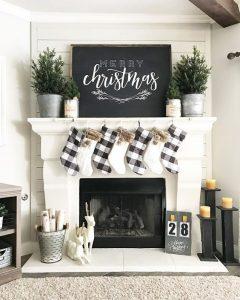 Ideas para decorar chimeneas esta navidad 2017 - 2018 (26)