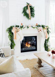 Ideas para decorar chimeneas esta navidad 2017 - 2018 (3)