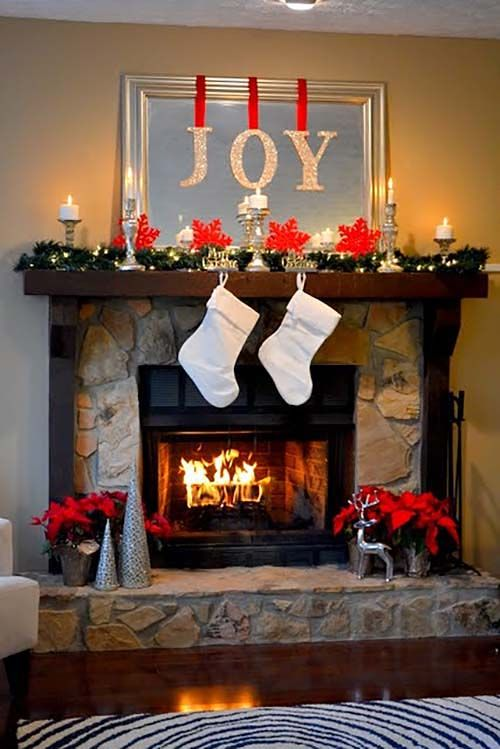 Ideas para decorar chimeneas esta navidad 2017 - 2018 (4)