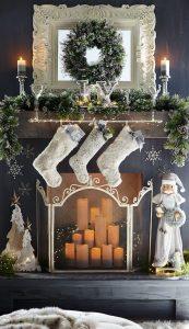 Ideas para decorar chimeneas esta navidad 2017 - 2018 (5)