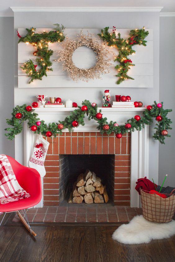 Ideas para decorar chimeneas esta navidad 2017 - 2018 (6)