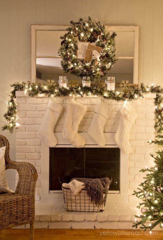Ideas para decorar chimeneas esta navidad 2017 - 2018 (7)