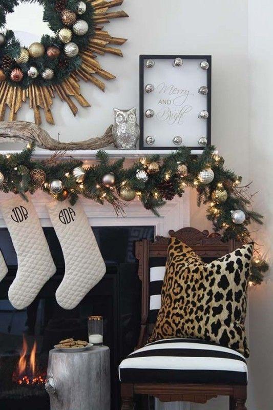 Ideas para decorar chimeneas esta navidad 2017 - 2018 (8)