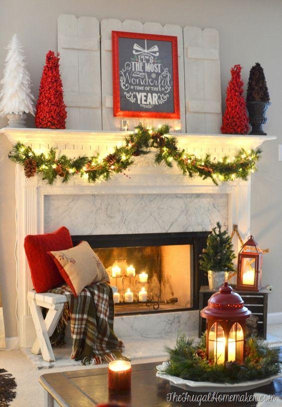 Ideas para decorar chimeneas esta navidad 2017 - 2018 (9)
