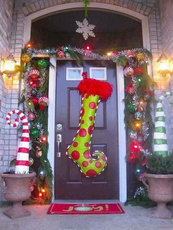 Ideas para decorar la entrada de tu casa esta navidad 2017 2018 17 decoracion de - Decoracion de navidad 2017 ...