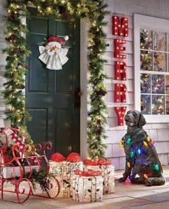 Ideas para decorar la entrada de tu casa esta navidad 2017 - 2018 (2)