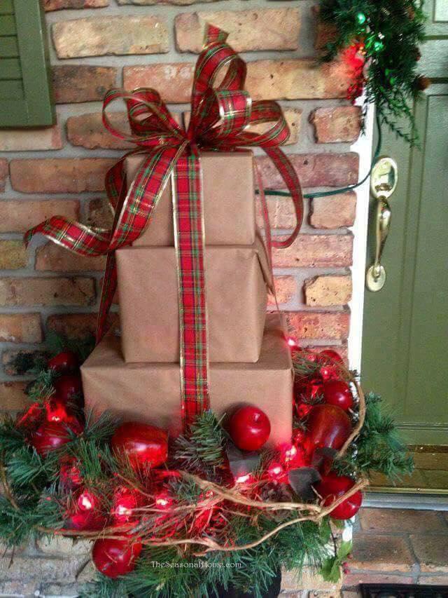 Ideas para decorar la entrada de tu casa esta navidad 2017 - 2018 (25)