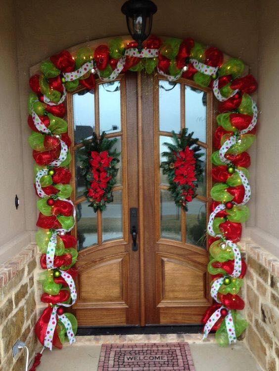 Ideas para decorar la entrada de tu casa esta navidad 2017 - 2018 (29)