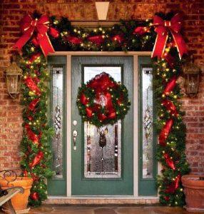Ideas para decorar la entrada de tu casa esta navidad 2017 - 2018 (3)