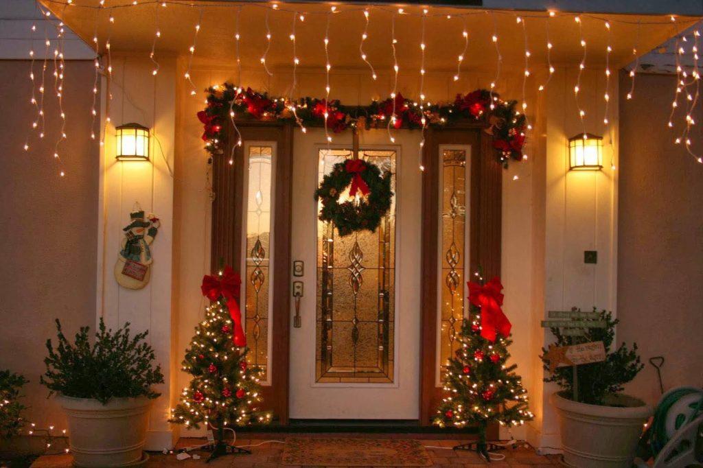 Ideas para decorar la entrada de tu casa esta navidad 2017 - 2018 (4)