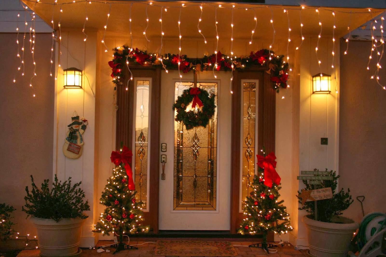 Ideas para decorar la entrada de tu casa esta navidad 2017 - Decoracion de navidad en casa ...