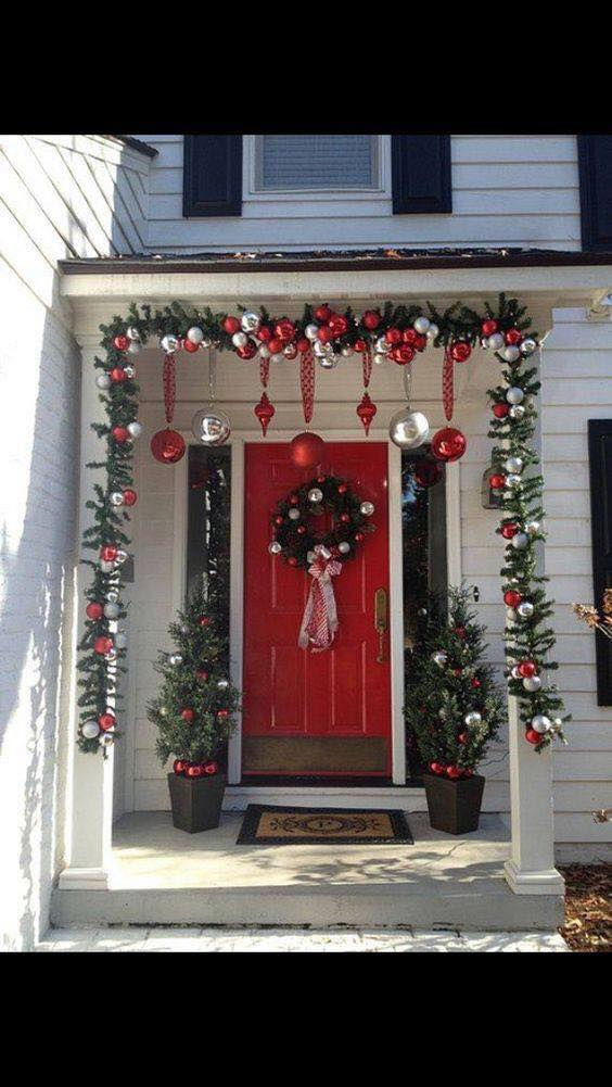 Ideas para decorar la entrada de tu casa esta navidad 2017 - Ideas para decorar una entrada de casa ...