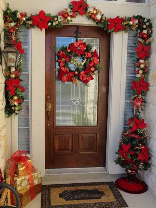 Ideas para decorar la entrada de tu casa esta navidad 2017 for Ideas para decorar la entrada de un piso