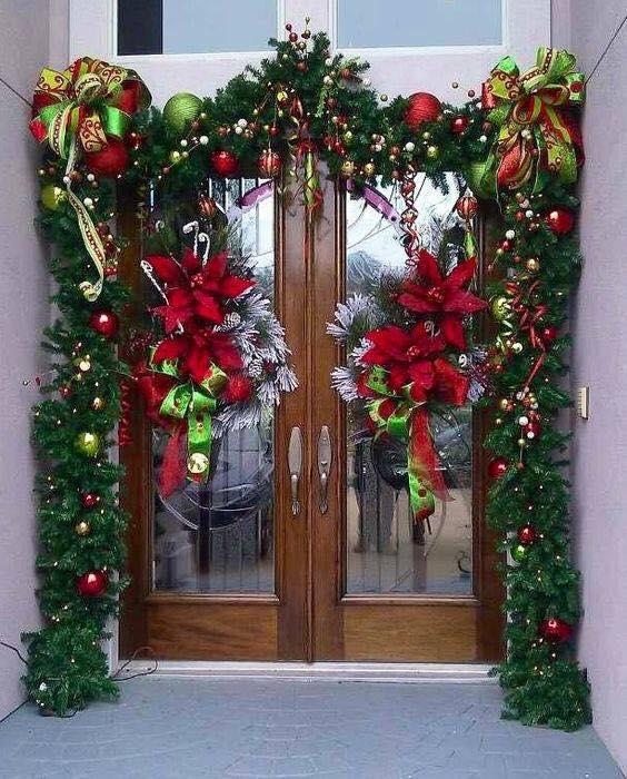Ideas para decorar la entrada de tu casa esta navidad 2017 - Ideas para adornar la casa en navidad ...