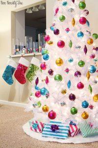 Como decorar un arbol de navidad 2018 colorido