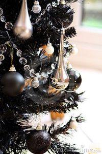 Decoracion arbol de navidad 2018 - pinos negros
