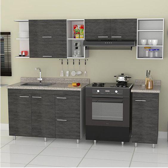 decoracion de cocinas integrales pequeñas con detalles de acero inoxidable