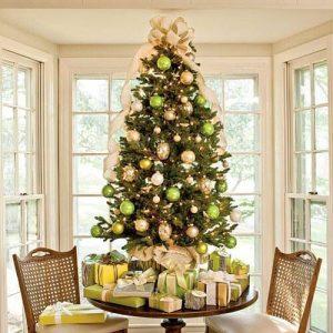 pinos de navidad sobre mesas (3)