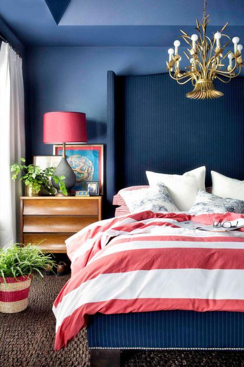 cuartos en azul marino