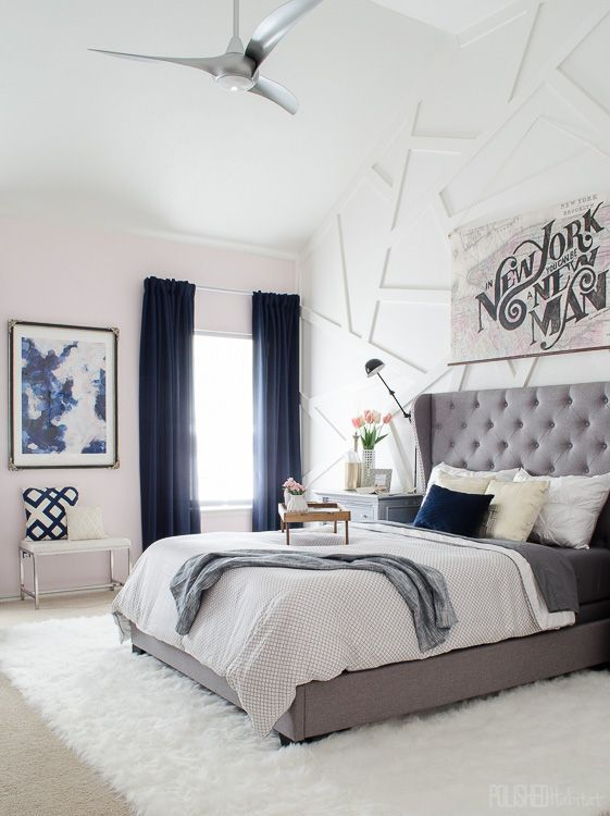 cuartos modernos azules